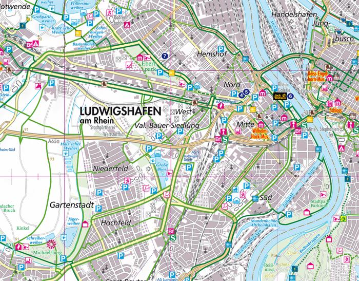 Wandern und Wanderwege im Rhein-Pfalz-Kreis - Wanderkarte und Radkarte