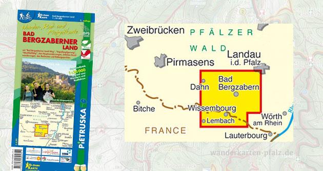 Wandern in Bad Bergzabern - Übersicht der Wanderkarte und Wanderwege
