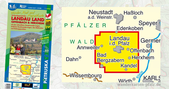 Wandern in Landau, Offenbach und Herxheim, Wanderungen und Wanderkarte