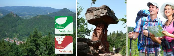 Hauenstein Wanderkarte für Wanderung rund um dem Trifels