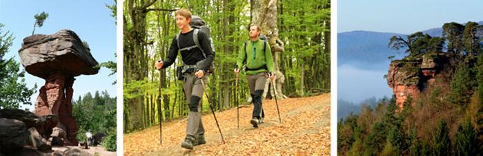 Wanderung auf den Wanderwegen in Dahn und im Dahner Felsenland