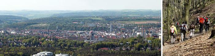 Wanderung auf den Wanderwegen in Kaiserslautern