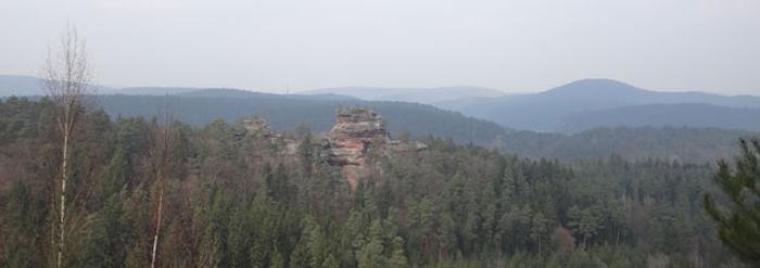 Wasgau Wanderkarte, westlicher Teil mit Dahn