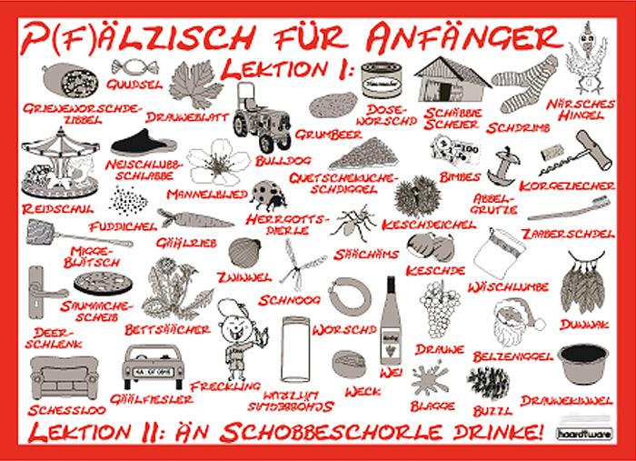 Postkarte: Pfälzisch für Anfänger - Lektion I & II