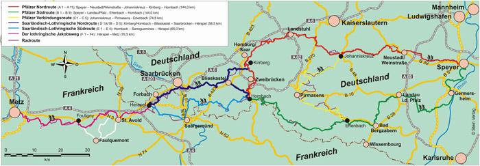 Pfälzer Jakobswege Wanderführer (Strecke)